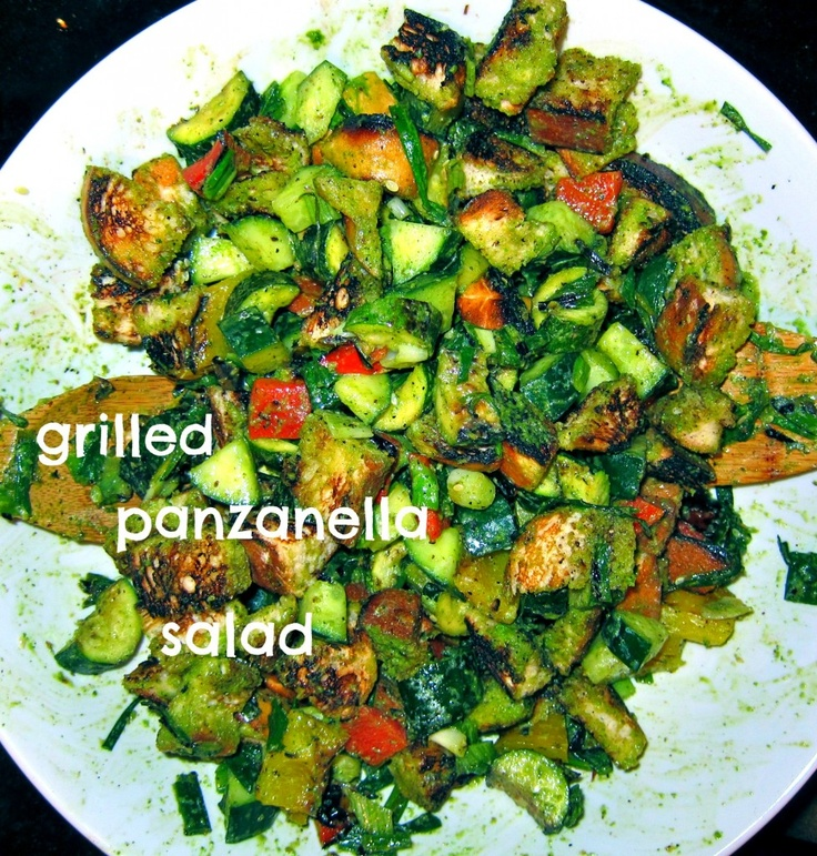 grilled panzanella salad | recipes to try | Pinterest