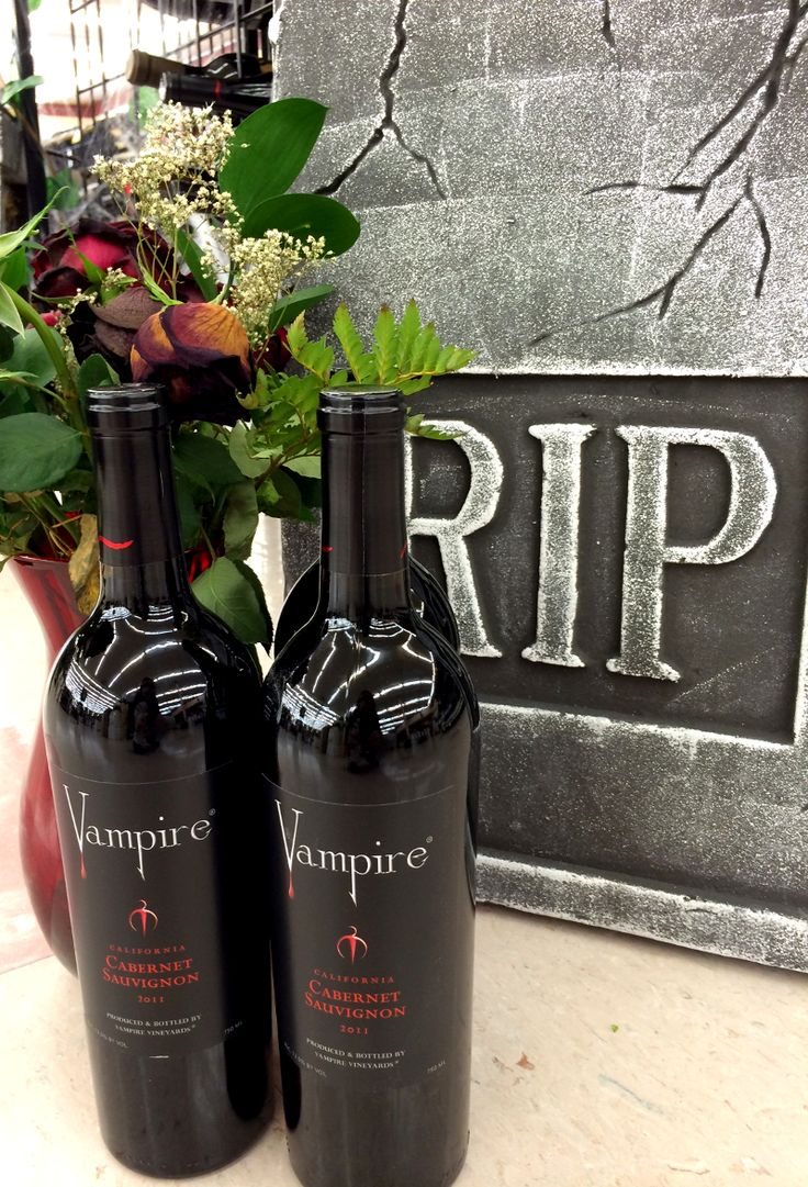 Vampire Wine and a Spooky Tombstone