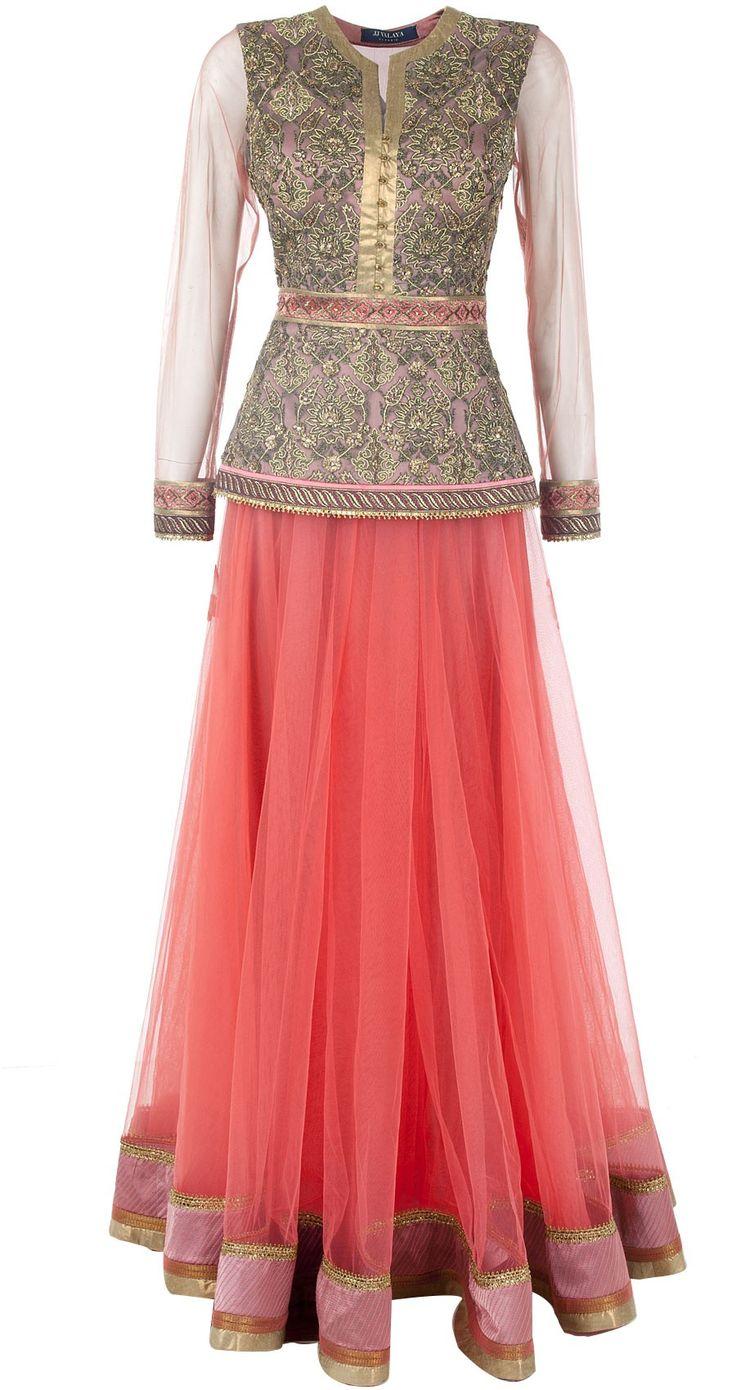 Indian Full Skirt Blouse Designs 8