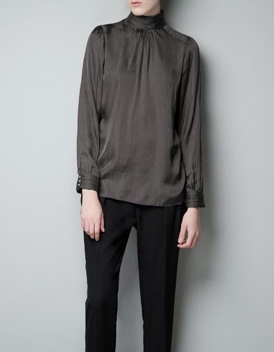 Zara High Neck Lace Blouse 39