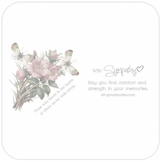 Share Email Print Heartfelt Sympathy Condolence Greeting Cards Online Facebook All