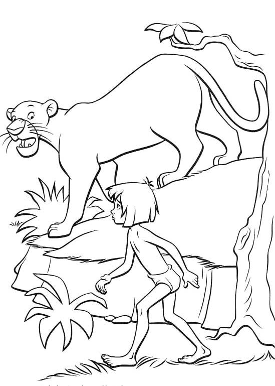 jungle book mowgli and bagheera coloring pages coloring pages