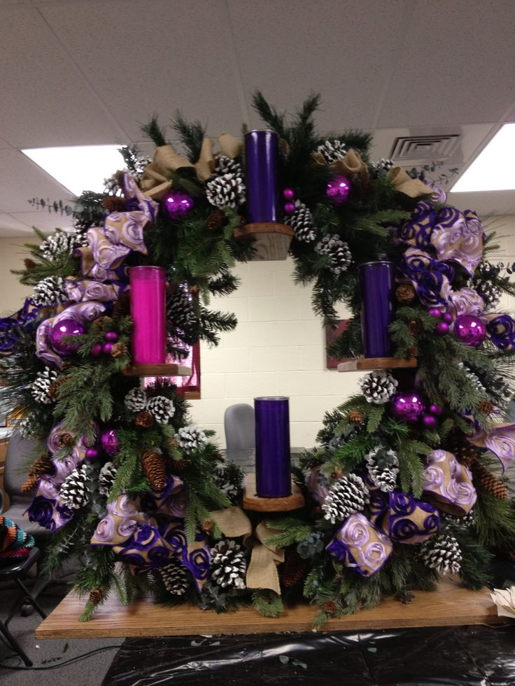 Vertical advent wreath for altar advent pinterest for Pinterest advent