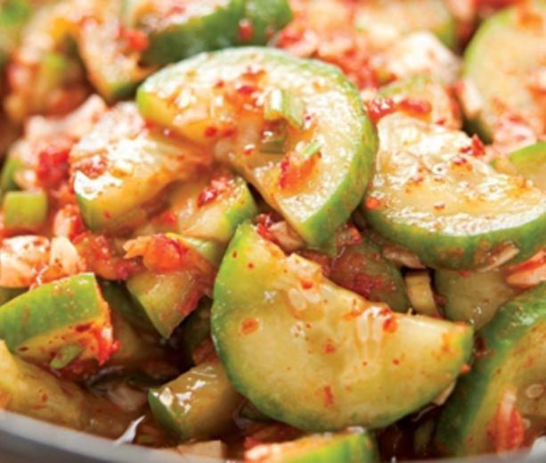 Quick Cucumber Kimchi | Low Carb & Low Calorie Savory | Pinterest