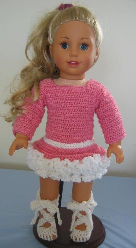 Crochet Pattern Complete Ballet Outfit for American Girl Doll or Like ...