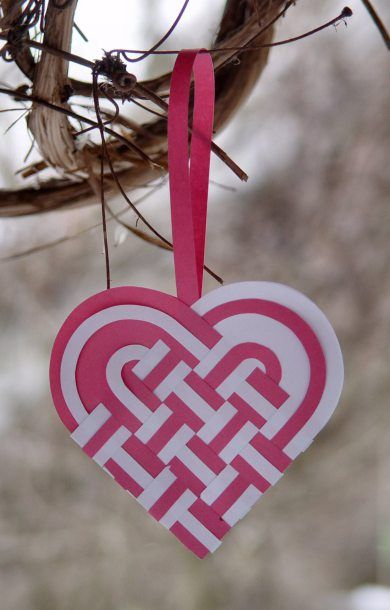 valentine's day woven heart basket