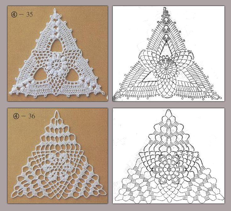 Треугольные схемы вязания крючком 69