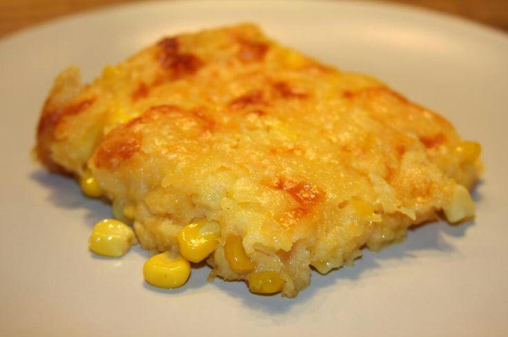Easy corn casserole with creamed corn and Jiffy cornbread mix