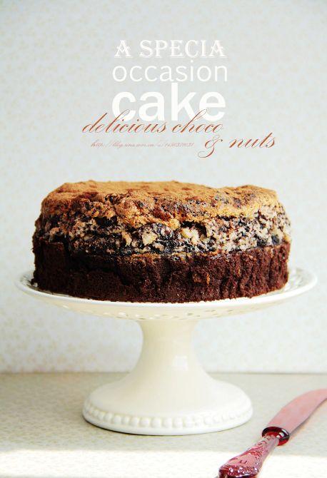 ... Top hazelnut brittle chocolate cake Choco & Hazelnut Meringue Cake