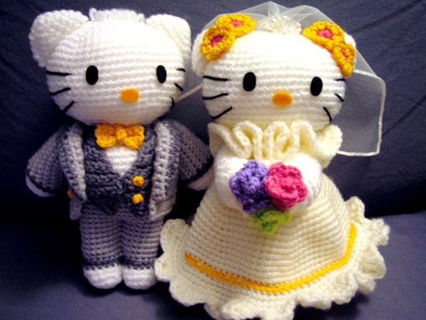 Amigurumi Yorkie Free Crochet Pattern : Amigurumi Wedding Hello Kitty Crochet Fun Pinterest