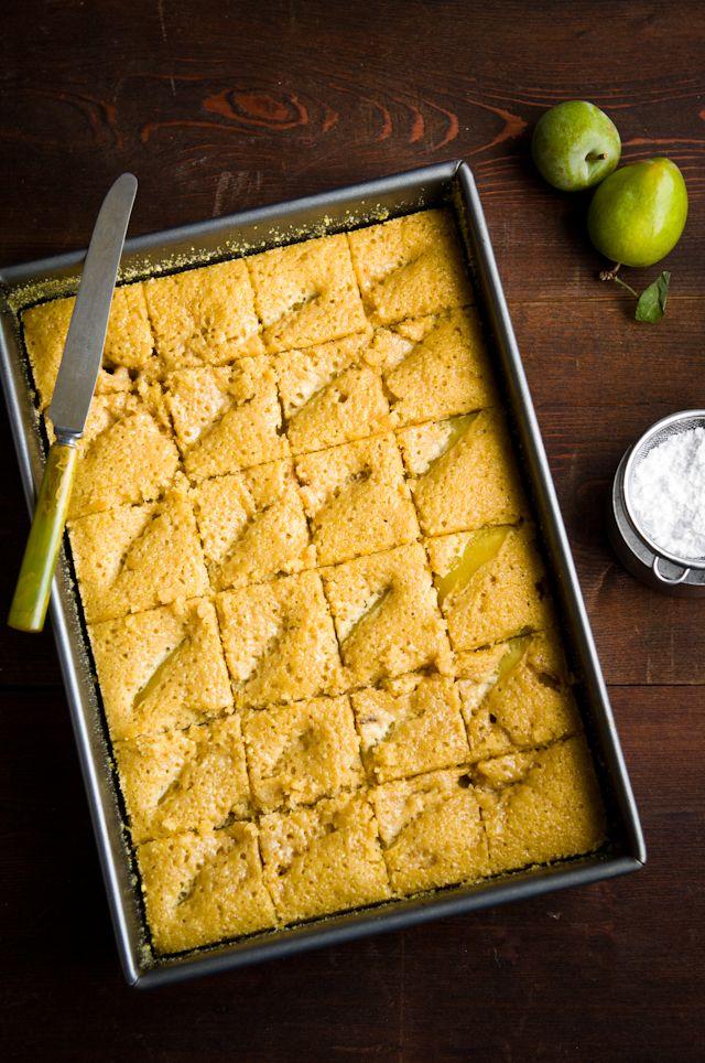 Plum Cornmeal Cake Recipe — Dishmaps