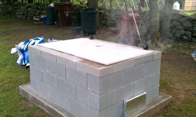 Backyard Cinder Block Smoker : Outdoor cooker  Smokehouse  Pinterest