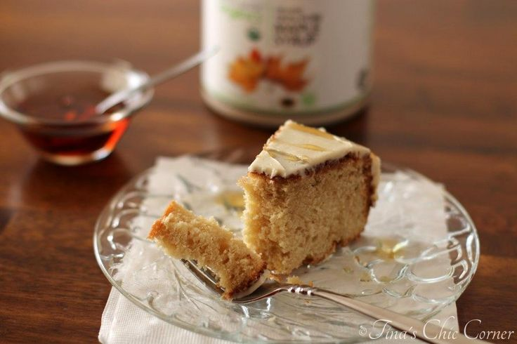 is a lightly sweetened maple cake covered with a sweet layer of maple ...