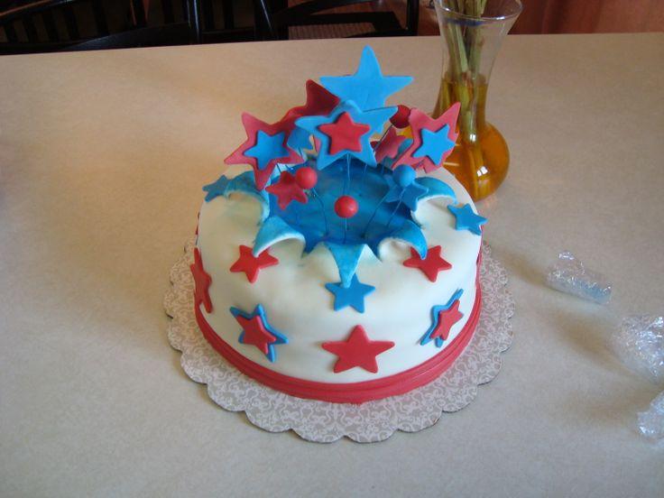 july 4th cake smash