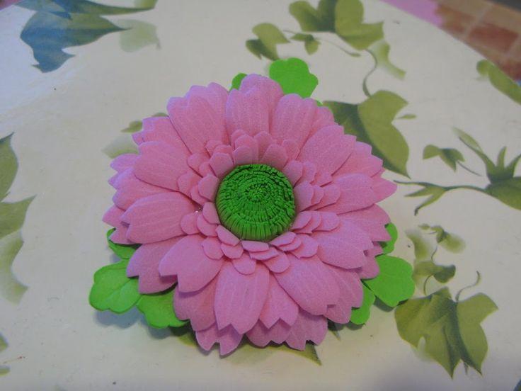 Цветы на шпильке из фоамирана своими руками