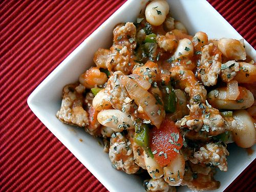 Italian Sausage & White Bean Stew Made Oct 25/11 Used Navy Beans ...