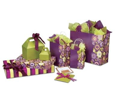 Gift Boxes, Bags, & Gift Wrap in Lotus Flowers Design