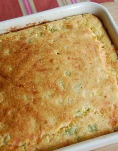 "Corn bread with ""cheddar"" and chilies 