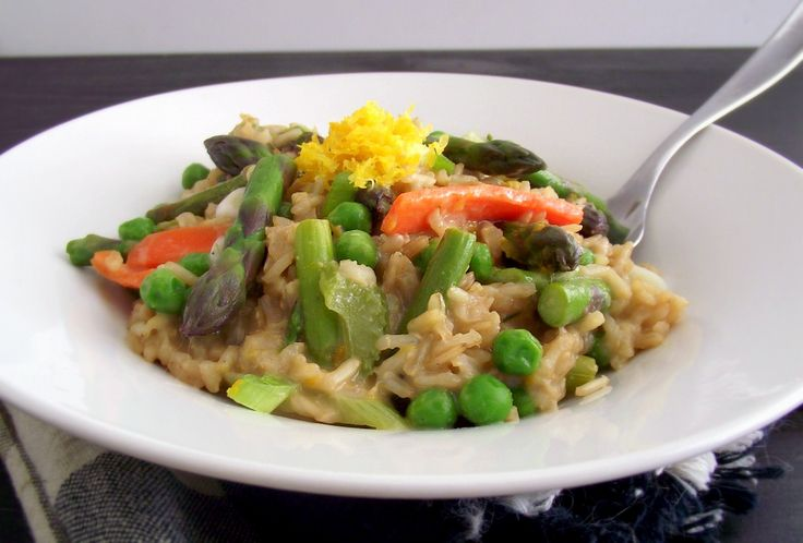Spring Vegetable & Meyer Lemon Brown Rice Risotto Recipes ...