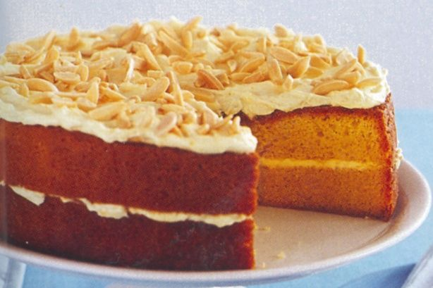 Orange almond sour cream cake | Desserts & Cakes | Pinterest