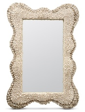 Shell mirror for powder room