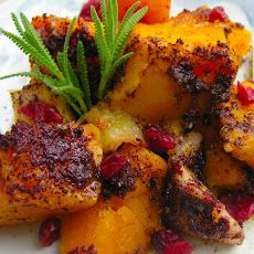 Roasted Butternut Squash Wedges With Tahini-Yogurt Sauce, Sumac, And ...