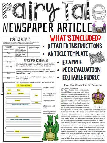Fairy Tale Newspaper Template