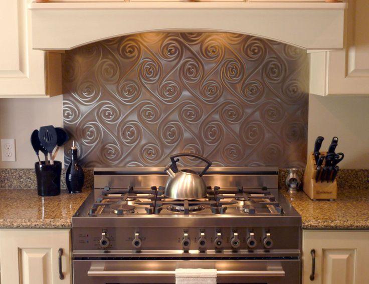 stainless steel twister backsplash home decor i like