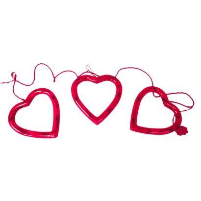Heart String Lights Red : 3ct Red Heart String Lights H0!id@zE ?? Pinterest