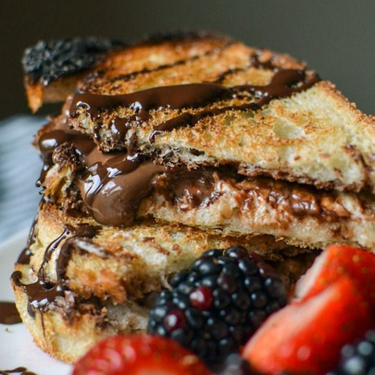 Hot Nutella Sandwiches - Recipe from The Kitchn