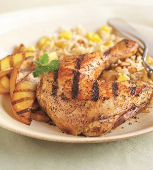 Grilled Tandoori-Style Chicken and Mangoes with Mango Jasmine Rice ...
