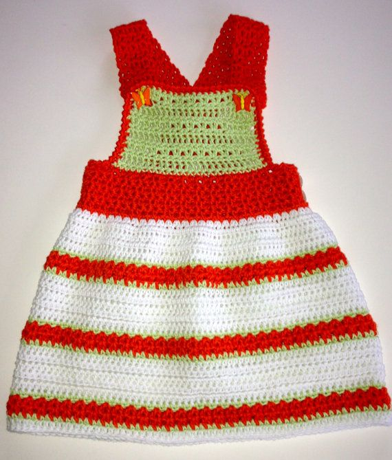 Crochet Patterns Jumper : Crochet Pattern for Baby Toddler Jumper Dress, Orange Sherbet, PDF 12 ...