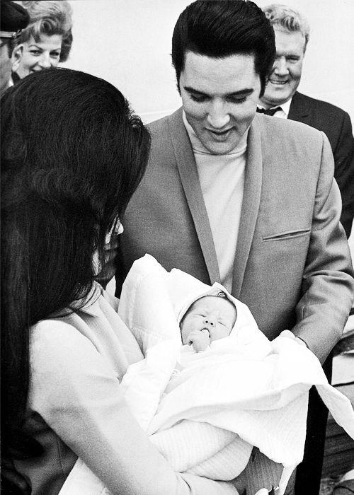 Priscilla Presley #Lisa Marie Presley #Vernon Presley #1968