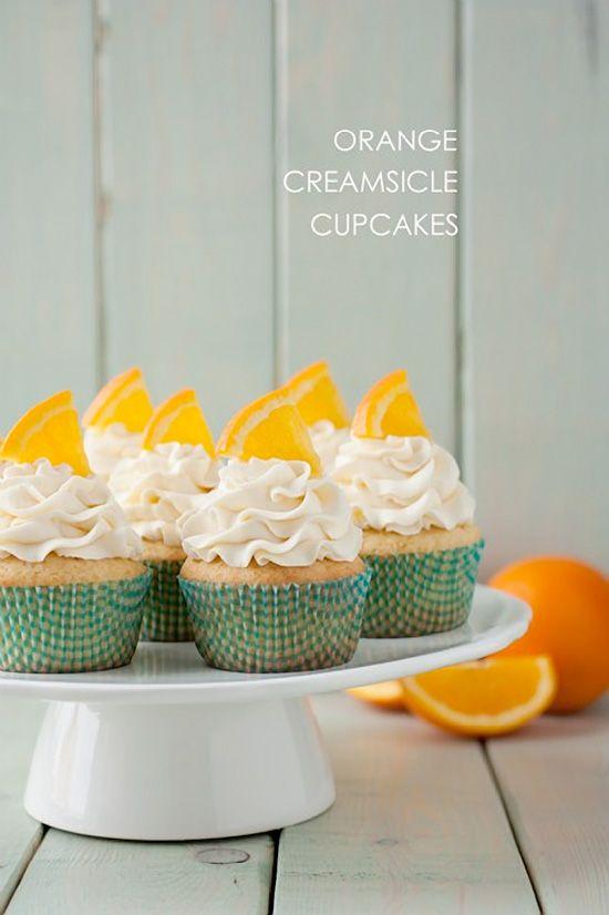 Orange Creamsicle Cupcakes Recipe. Oranges and cream … a blissfully ...