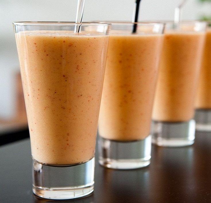 Energizing Organic Coconut Peach-melba Smoothie