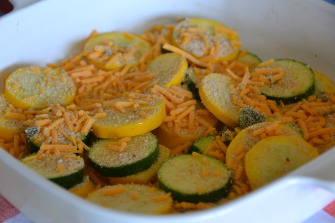 Summer Squash With Baked Eggs Recipe — Dishmaps