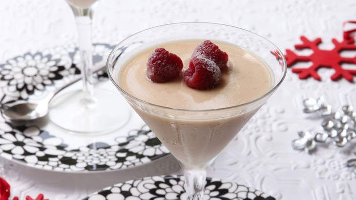 Eggnog panna cotta with frosted berries. | Christmas goodies | Pinter ...
