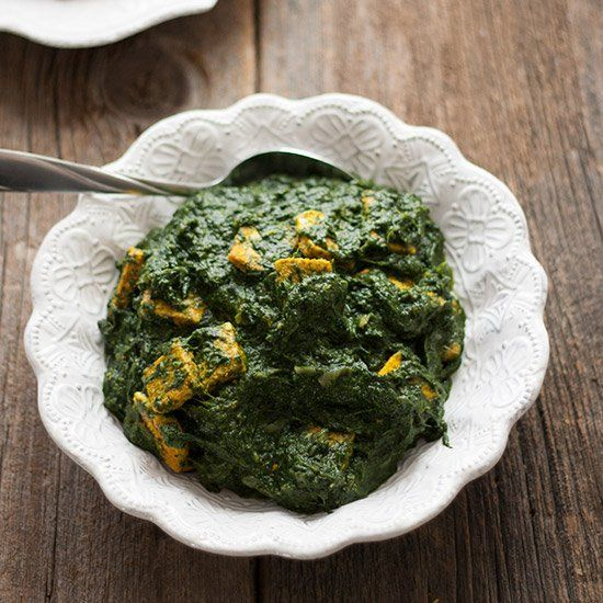 Saag with tofu paneer. | Main Dishes | Pinterest