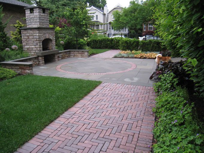 Front Yard Brick Path Outdoor Ideas Pinterest