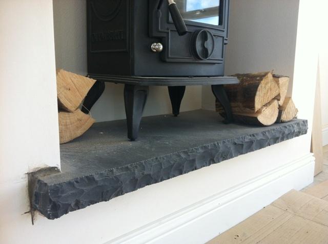 Black Limestone Hearth Porch Pinterest