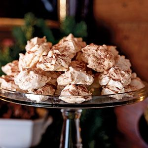 Coconut Meringues I didn't add the flaked coconut or the cocoa. But I ...