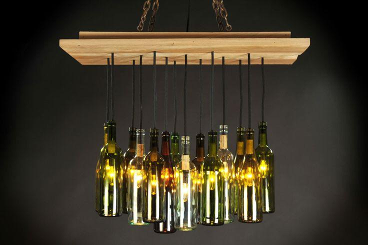 Wine bottle light the bunker pinterest - Wine bottle light fixtures ...