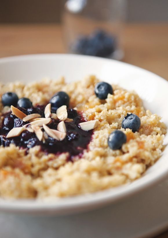 Honey Apricot Millet With Blueberry Compote & Toasted Almonds - Free ...