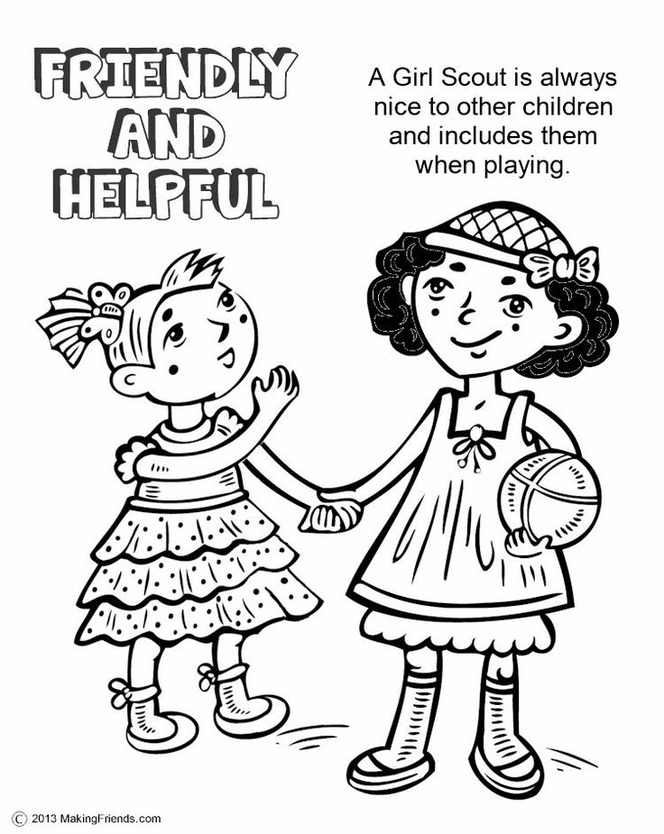 girl scout coloring pages brownie - photo#30