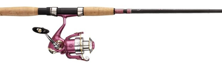 Pink fishing pole yes please and she thinks we 39 re for Pink fishing rods
