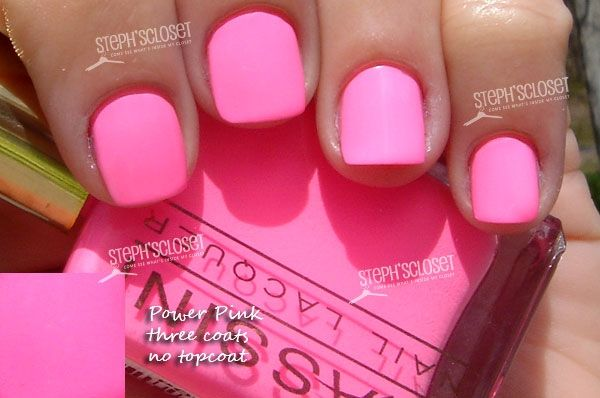 Massini Nail Lacquer in Power Pink - A Pink Neon