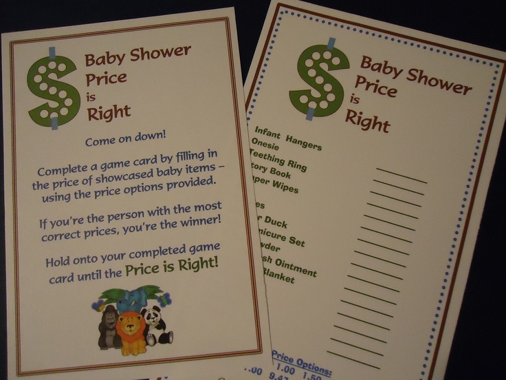 price is right baby shower game party ideas pinterest