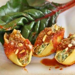 Swiss Chard and Tofu Stuffed Shells | Sweet and Savory | Pinterest