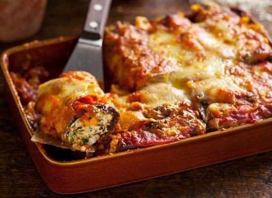 Spinach, ricotta and eggplant cannelloni | Recipe