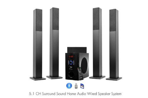 ... Home Theater Speakers System with Bluetooth USB/SD/AUX and Remote